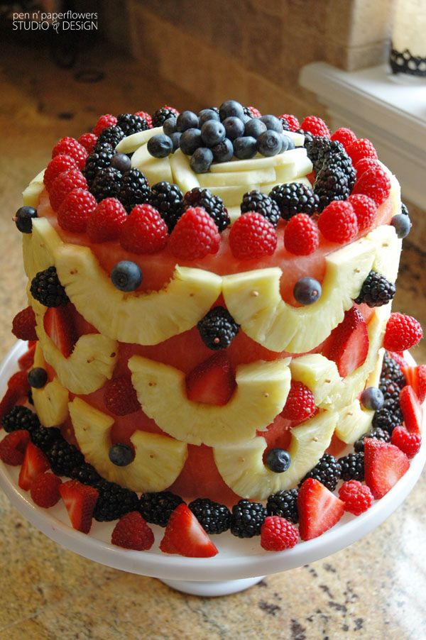 A birthday cake for someone on a diet!  This and a swedish sandwich cake and you have one portable fiesta