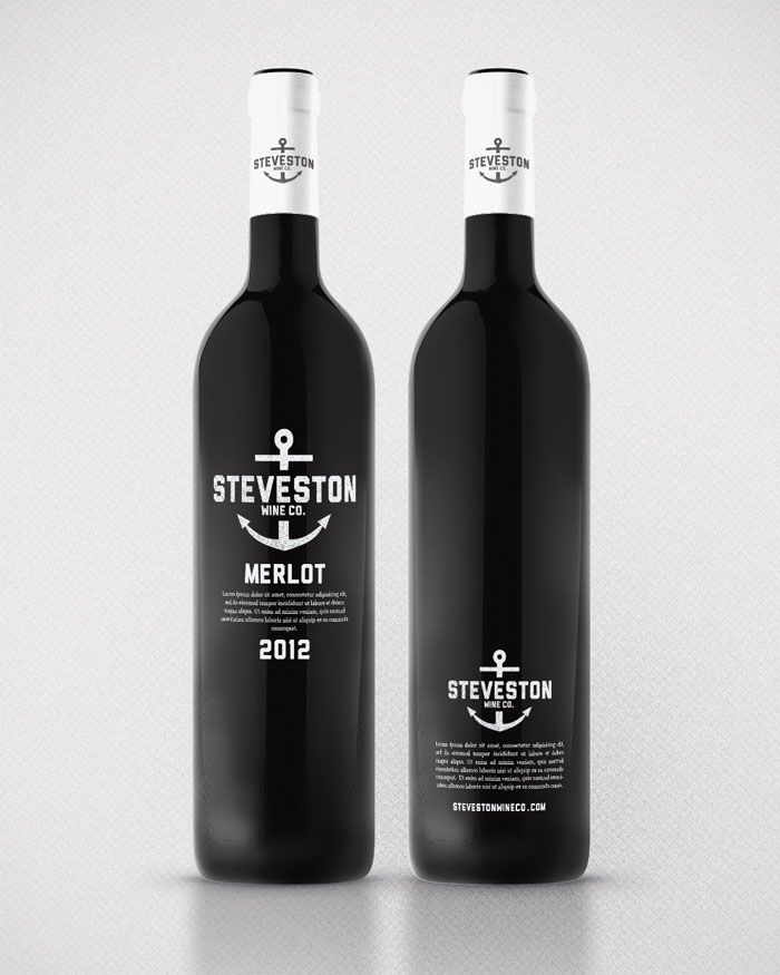 Steveston Village house wine concept designed by Kristian Hay.