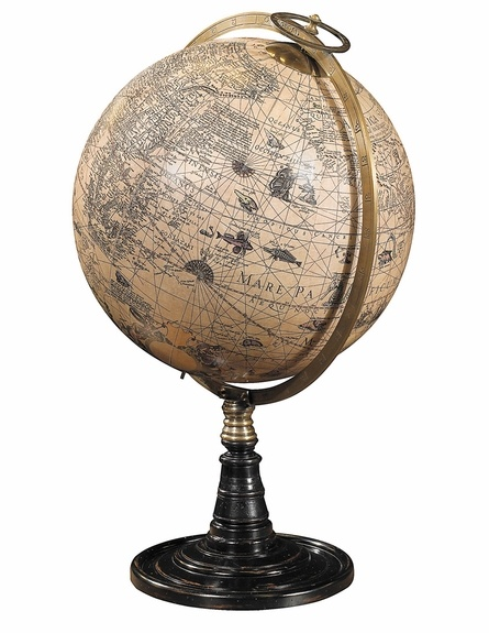 "The ""Old World Globe Stand"" would make an upscale and inspiring decor piece in the nursery which I would move to the great room or home office when she is old enough to get her hands on it!"