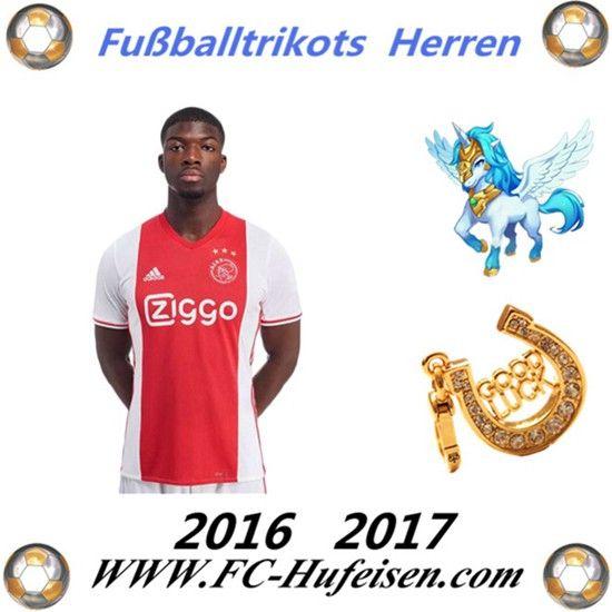 Neue Fussball Trikots Ajax Amsterdam Heim Saison 2016 2017 Billig