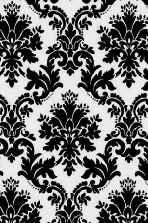 Para Pics> Preto e Vintage papel de parede floral branco