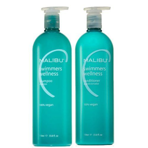 Malibu C Swimmers Wellness Shampoo and Conditioner Combo 1 Liter (33.8 oz) Each by Malibu Wellness. $42.28. Sulfate Free. Name changed by manufacturer from Malibu Swimmers Water Action to Malibu Swimmers Wellness. Completely safe for all hair types and for processed hair - both color and perms.. Convenient Set: Conditioner and Shampoo, 1 Liter each. A combination of two hair care necessities for those who swim. Malibu Swimmers Wellness Shampoo helps prevent build-up ...