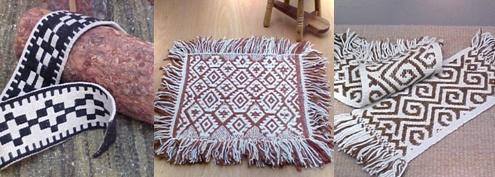 Trabajo textil de la población Mapuche
