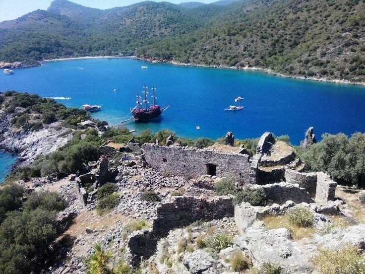 #Gemiler (St. Nicholas) Island as a part of boat trip from #Oludeniz beach, #Fethiye, #Turkey
