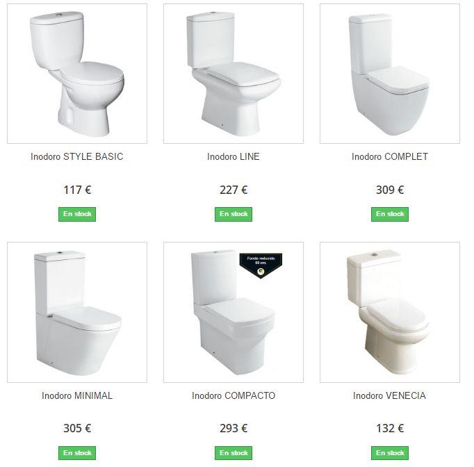 Compra al mejor precio los inodoros de tu cuarto de baño y recíbelos cómodamente en tu domicilio, ahora precios muy baratos con envío gratis