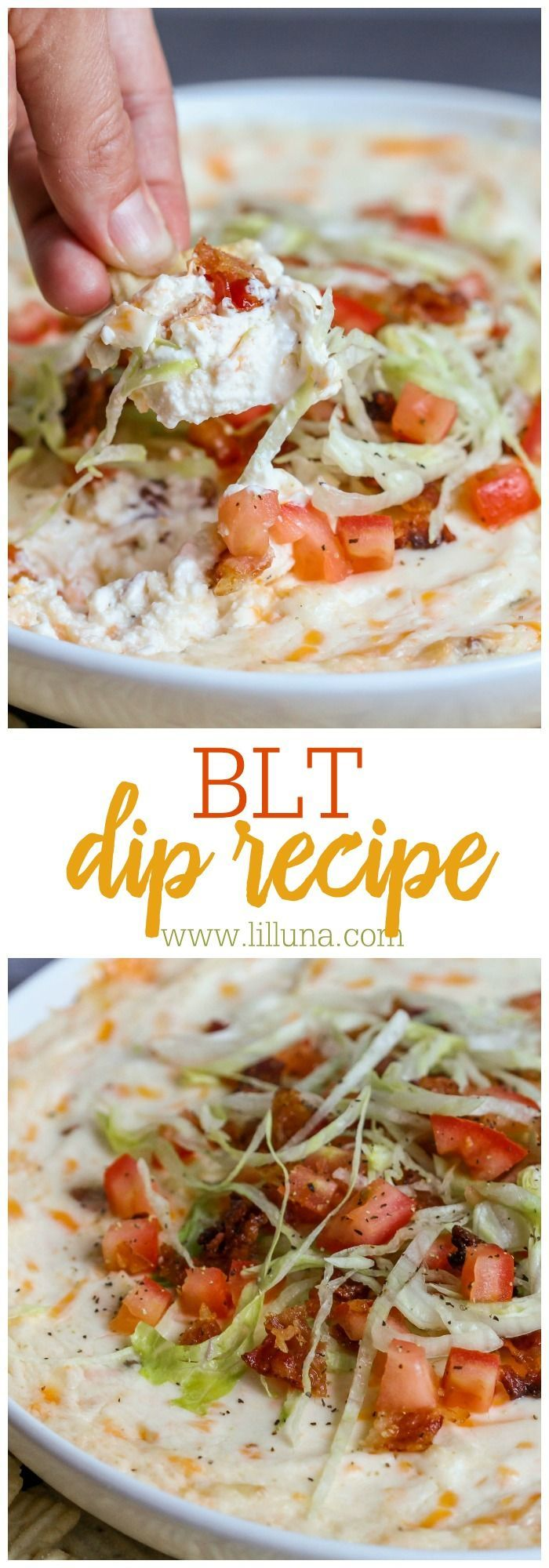 BLT Dip Recipe. Game day food.