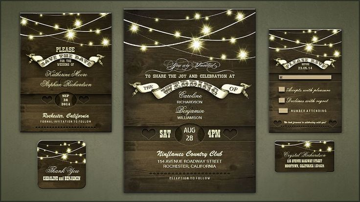 country wedding invitations and rustic save the date with