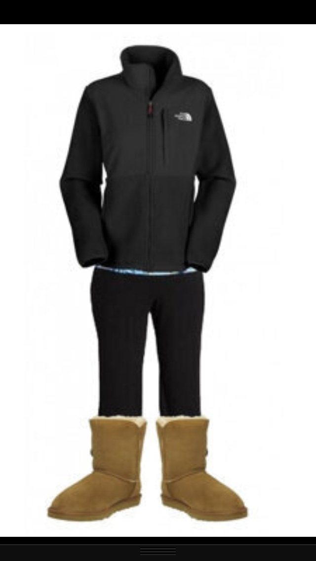 North face yoga pants and UGGS. | My Style IF I were SKINNY | Pinterest | I am It is and Pants