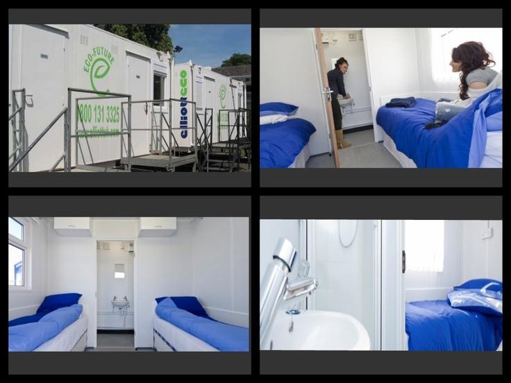 "2 bed en-suite and eco-friendly ""cabins"" festival accommodation at Edinburgh Fringe Festival 2013"