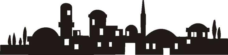 Line Art Jerusalem : Bethlehem silhouette it s beginning to look a lot like