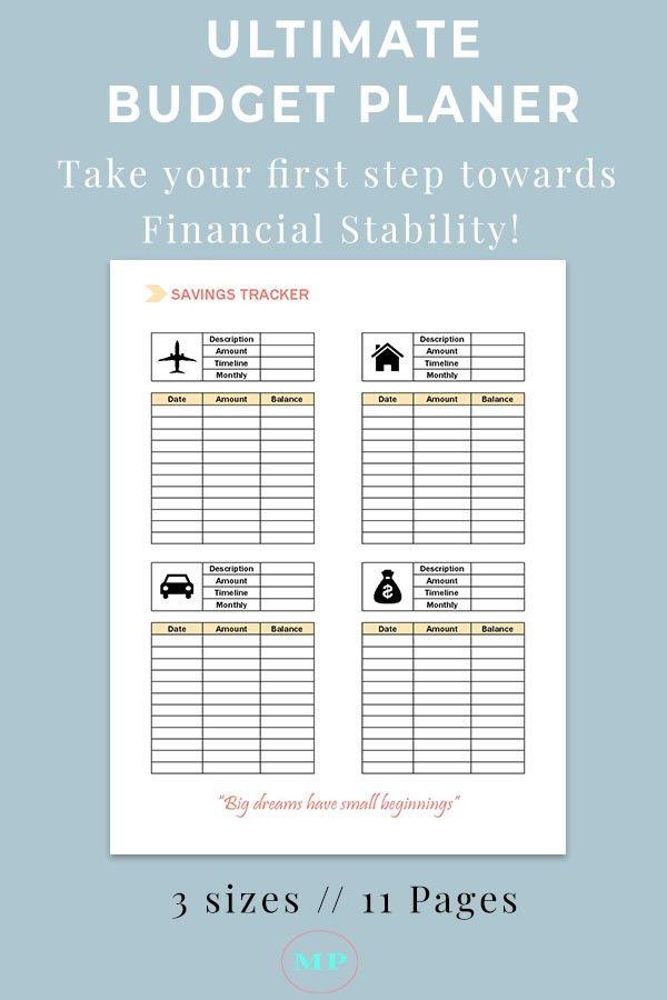 Budget Planner Template >> Get Out Of Debt Life Money Pinterest ...