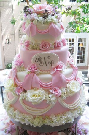 Beautiful pink princess tiered cake ~ wedding cakes ~ princess cakes ~ Creative Cakes :: PA