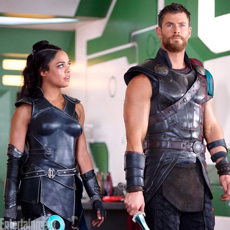 "entertainmentweekly: ""Get your first look at exclusive images from Thor: Ragnarok! "" Reunited at last! Here's a look at what's in store come November. Thor: Ragnarok is gonna be a funny one."