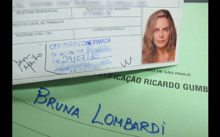 A atriz Bruna Lombardi (1952 - )