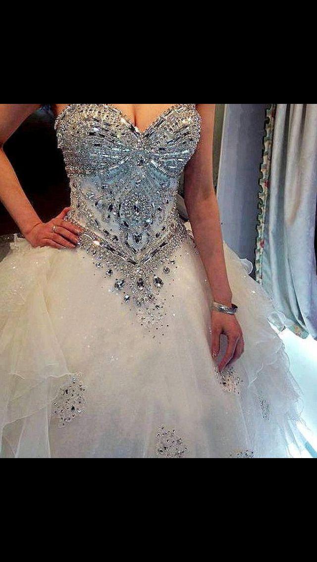 diamond top wedding dress - photo #42