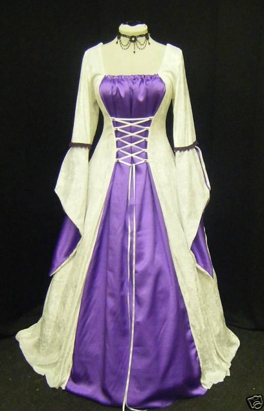 Gothic victorian dress white
