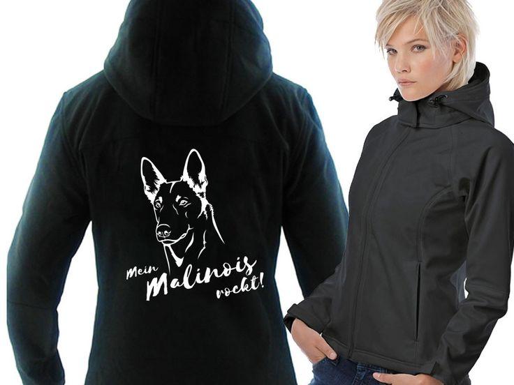 Softshell-Hoody-Jacke: -Belgischer Schäferhund- - Tierisch-tolle-Geschenke
