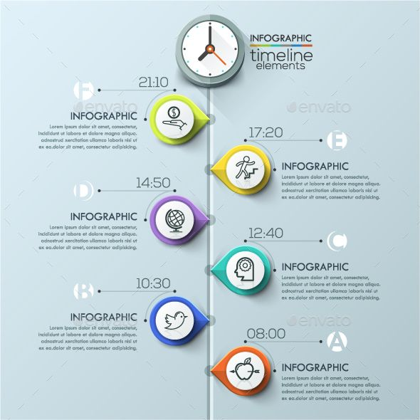 Modern Infographics Timeline Template — Photoshop PSD #timeline #choice • Available here → https://graphicriver.net/item/modern-infographics-timeline-template/15197480?ref=pxcr