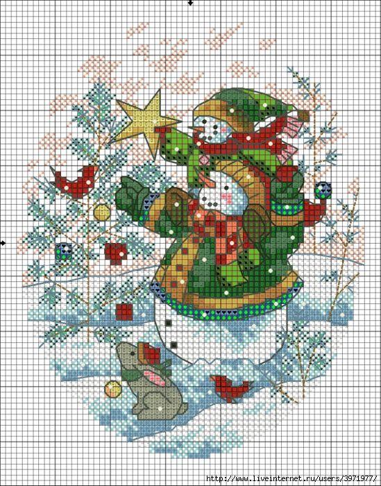 Point de croix *<3* Cross stitch- Christmas