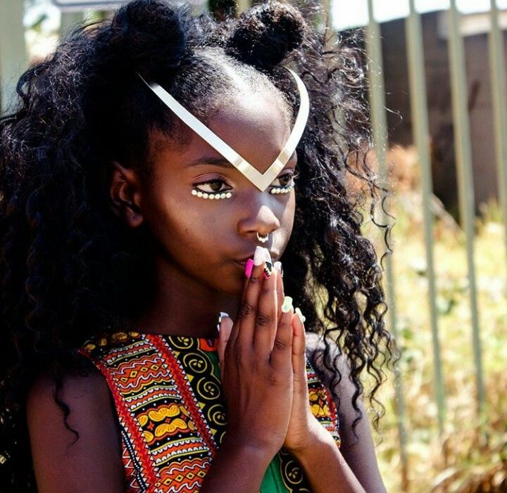 Young Girl with African pride*
