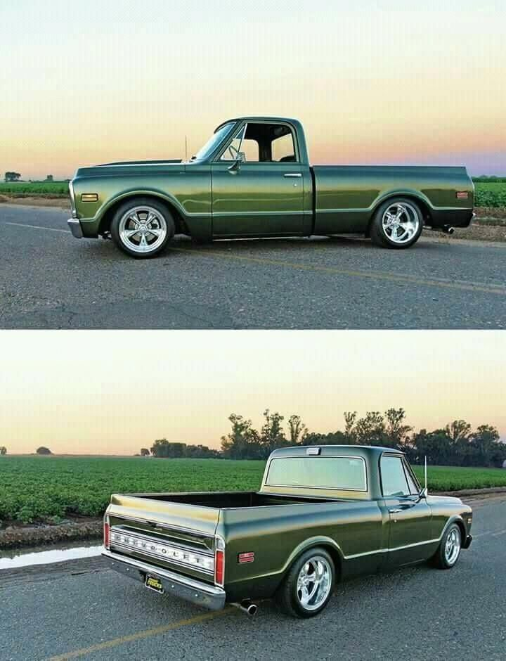 Wow I Genuinely Am Keen On This Color Choice For This Chevyfourwheel Gmc Trucks 72 Chevy Truck Chevy Trucks