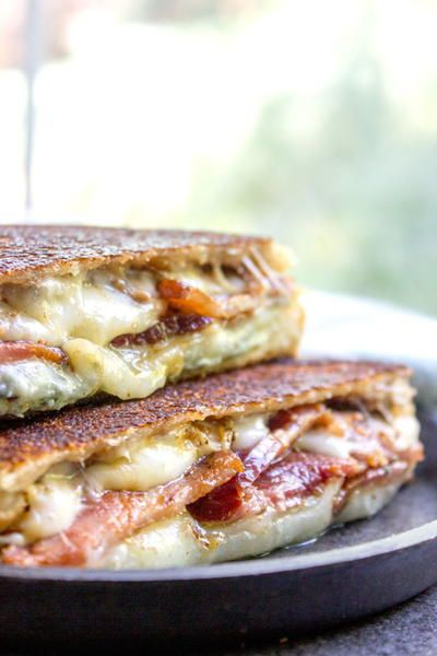 Fig and Bacon Grilled Cheese (The Figgy Piggy)