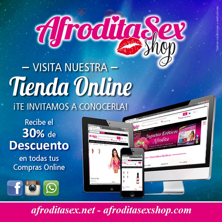 Nuestra tienda OnLine siempre estará abierta para ti, visita ya http://afroditasexshop.com/ http://afroditasex.net/home.html Whatsapp: 314 630 66 06