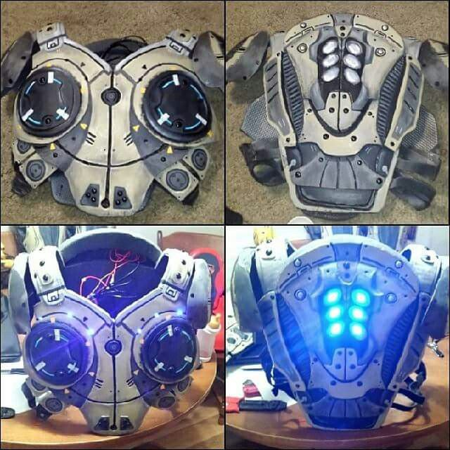 Eva foam gears of war armor with led lights