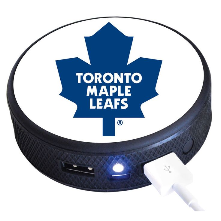 Toronto Maple Leafs 3600 mAh Puck Remote Cell Phone Charger