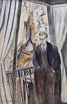 Philippe Soupault, né à Chaville le 2 août 1897 et mort à Paris le 12 mars 1990, est un poète français, cofondateur du surréalisme et journaliste. | Philippe Soupault, par Robert Delaunay (1922)