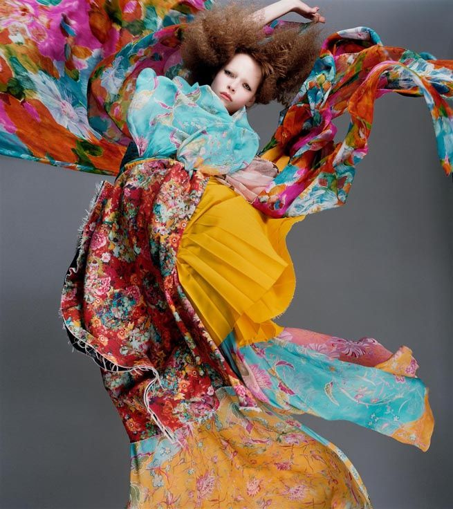 """Bloom"" | Model: Polina Kouklina, Photographer: Sølve Sundsbø, V Magazine, Issue 28, Spring 2004"