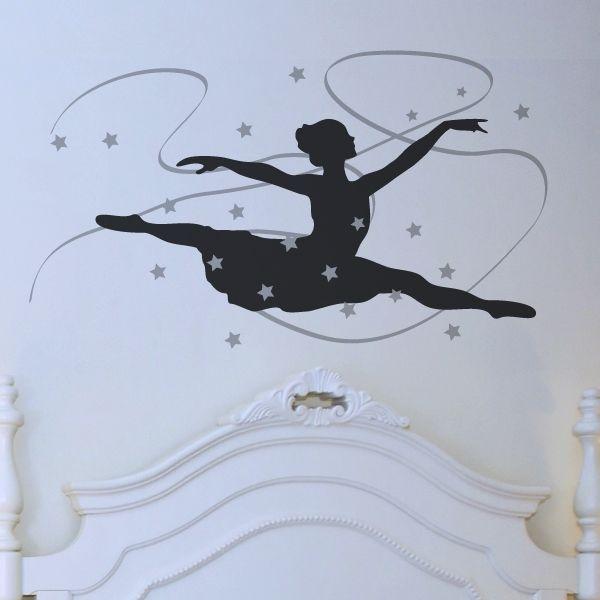 Unique Wandtattoo Ballett f rs Kinderzimmer T nzerin im Grand Jet