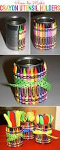 my girls could make these for you!!!!!! we can use cans, crayons, hot glue, ribbon, VIOLA!!!!!