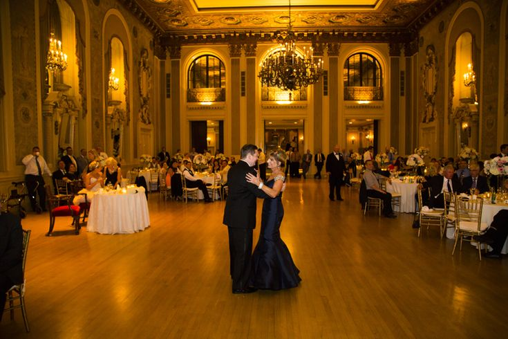 Classic elegant ballroom wedding reception at Hotel DuPont   | Wilmington, Delaware wedding venues (Michael Chadwick Photography)