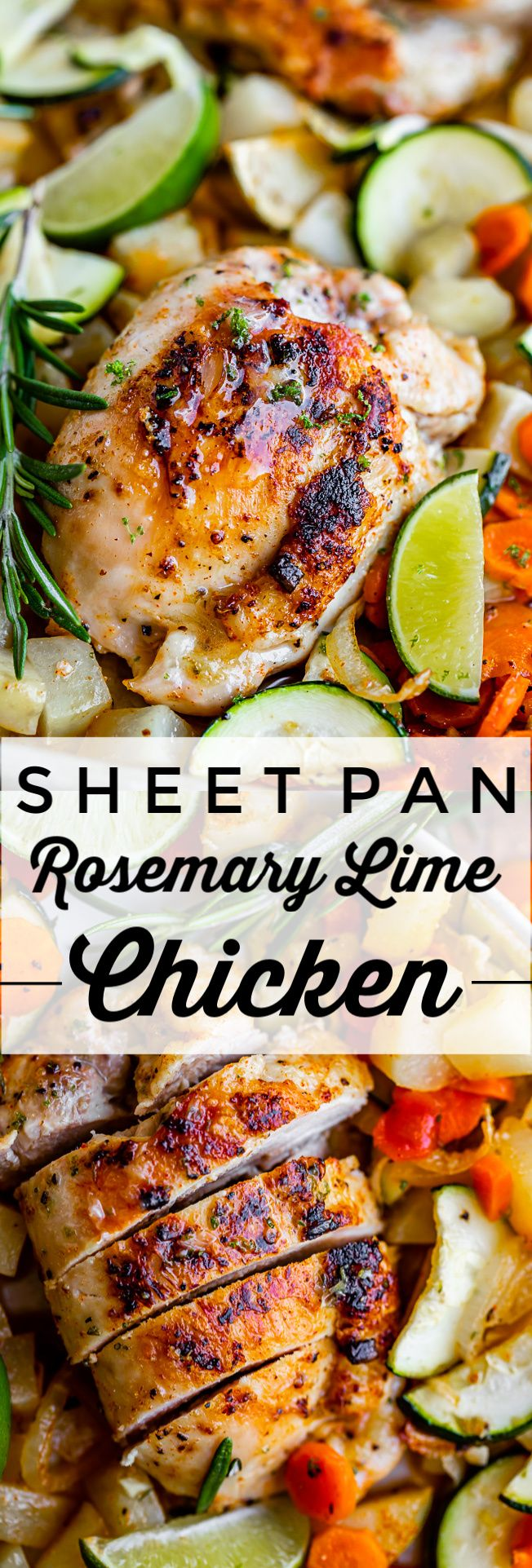 Sheet Pan Rosemary Lime Chicken and Veggies from The Food Charlatan. This is the…