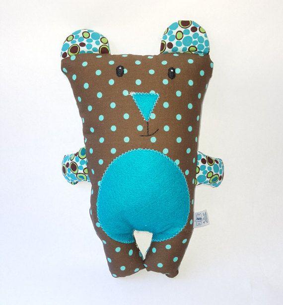 Brown teddy bear plushie/softie/ baby toy Osito de por FlofyCo