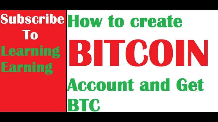 How to Create  Bitcoin Account and Receive payment in BTC