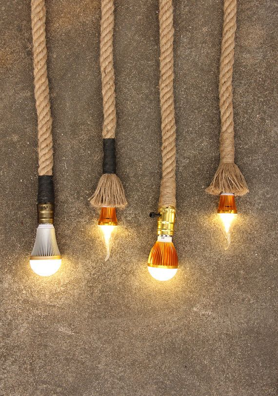 UPGRADE Antique Rope Cord for Insulator by DivineDiscoveries $11.00 · Track LightingRope ... & 55 best Handmade lights with nautical rope images on Pinterest ... azcodes.com