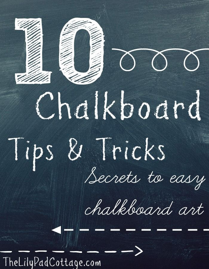 10 Chalkboard tips and tricks