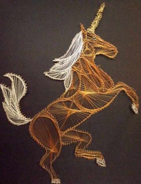 Cool nail and string art