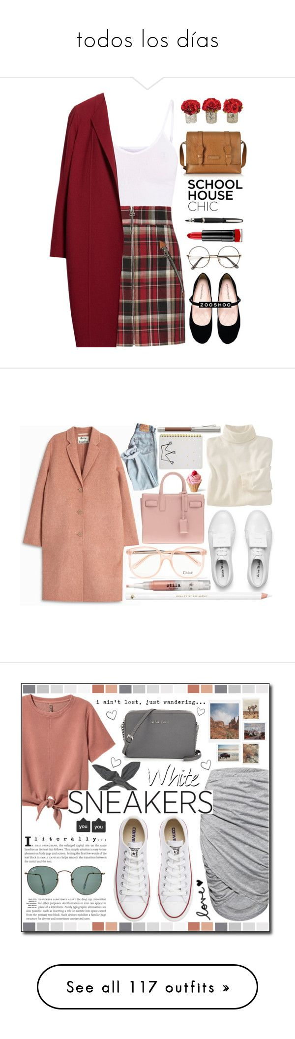"""todos los días"" by roch-macarena ❤ liked on Polyvore featuring BasicGrey, rag & bone, City Classified, The Bridge, The French Bee, Max Factor, Lafayette 148 New York, Sugar Paper, Acne Studios and Chloé"