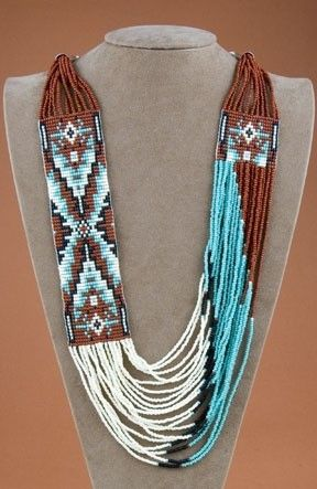 Native American Indian Jewelry. (Dilentessa says: I knew a woman who owned one of these necklaces, bought from natives in Arizona. IRL, these are striking necklaces.)