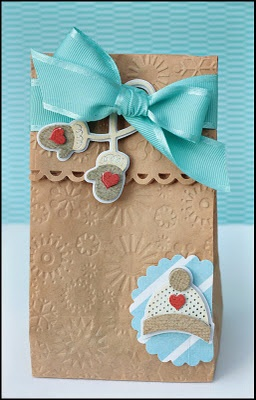 Embossing paper bags! I tried a white paper bag and it turned out beautiful!!! Thank you for sharing:)