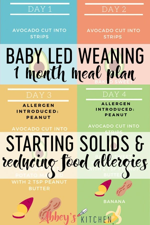 I Share My Exclusive 1 Month Blw Baby Meal Plan For Starting Solids And Reducing Food Allergies By Cr Baby Meal Plan Baby Led Feeding Baby Led Weaning 7 Months