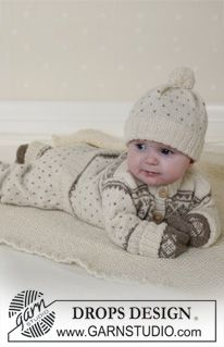 Jacket, trousers, hat, mittens, and socks in Alpaca  (BabyDROPS 13-5)