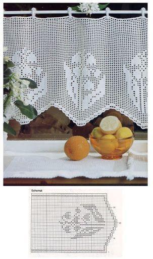 21 besten Winter Häkeln Bilder auf Pinterest Gardinen häkeln - gardinen für küche