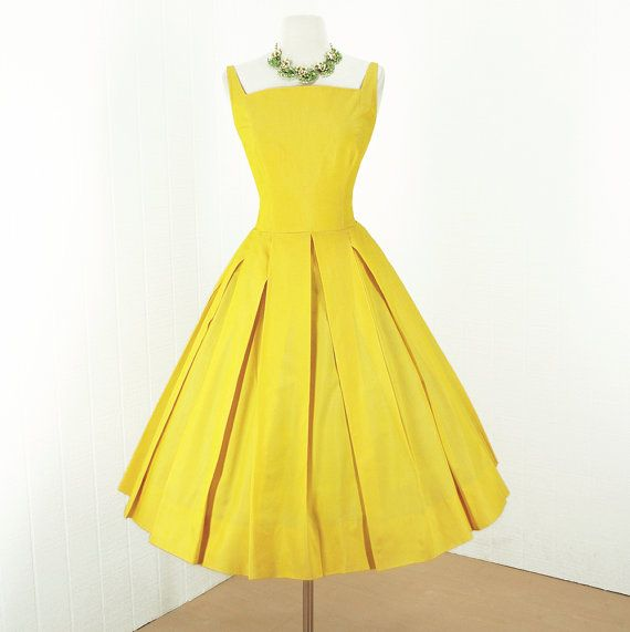 25  best ideas about Yellow vintage dresses on Pinterest | Vintage ...