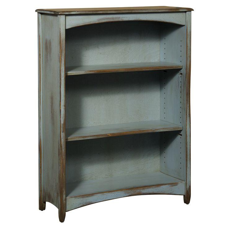 Chelsea Home Furniture 465 0148 Sfda Liliana 4 Bookcase In Seafoam Distressed Antique