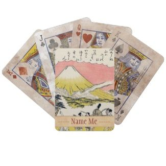 The Syllable He Passing Mount Fuji japanese art Bicycle Card Decks #Syllable #He #Passing #Mountain #Fuji #Katsukawa #Shunsho #japanese #art #oriental #customizable #gifts #accessories #Japan #ukiyo-e #Asia #custom #name #gift #ink #vintage #scroll #tales #legend