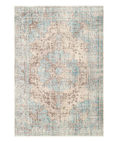 Look at this #zulilyfind! Beige Persian Vintage Bobette Rug #zulilyfinds
